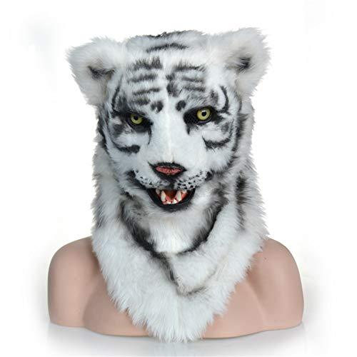 ZhengELE Animal Cosplay Sombrero Divertido Tigre Blanco Hogar de Animales con la Boca Mover SIMULACIÓN Director DE LOS Pago DE Novelties REVÍE para Cosplay Party Halloween Carnaval