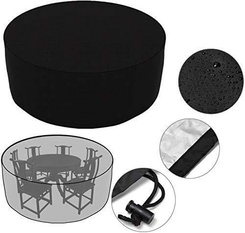 N / A Cubierta de Muebles de Jardín Fundas de Muebles Impermeable Resistente al Polvo Anti-UV Protección Exterior Muebles de Jardín Cubiertas de Mesa y Silla Negro 163 X 84cm