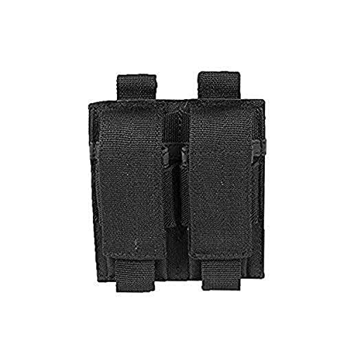 Miltec Doppel-Ladegerät für Pistole, Schwarz (Befestigung Molle) für Erwachsene, Unisex, Einheitsgröße