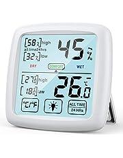 NIXIUKOL Higrometro Digital Termometro Casa Interior Medidor Humedad Termohigrometro con Pantalla Táctil Grande, Indicador de Comodidad, Termometro Ambiental