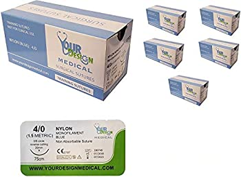 72 Piece Suture Thread with Needle  Pkg of 72  - for Practicing Suturing Doctors Medical Students Veterinarians and Nurses | Lifetime