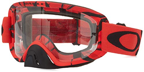 Oakley O2 MX Men's Goggles (Intimidator Blood Red Frame/Clear Lens)