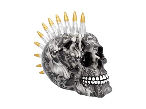 Nemesis Now Soul Bullet Totenkopf, 18,5 cm, Schwarz, Einheitsgröße