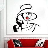 Decoración Del Hogar Pegatinas De Pared Pegatinas Interiores Pegatinas Personales Para Ventanas Labios De Salón De Belleza Estilo De Peinado Volumen 57X57Cm