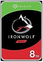 Seagate IronWolf NAS wewnętrzny dysk twardy 8 TB HDD, 3,5 cala, 7200 obr./min, CMR, 256 MB Cache, SATA 6 GB/s, srebrny,...