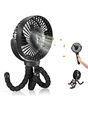Mini Ventilador USB,Ventilador Personal Portátil,Ventilador Silencioso,Oscilante 360° Girar 3 Velocidades, para Cochecito de bebé, Coche,Caminadora, Oficina, Hogar, Viajes, Camping