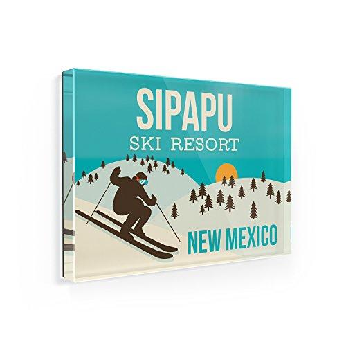 Fridge Magnet Sipapu Ski Resort - New Mexico Ski Resort - NEONBLOND
