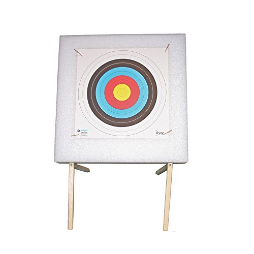 Zielscheibenset Foam 60 x 60 cm mit Ständer und Auflage