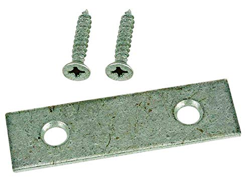 """Extra Heavy Duty 10 Pack of Zinc Plated Steel Mending Plate 2"""" x 1/2"""" with 1/2"""" x 4 Screws"""