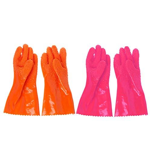 Hothap 1 paar Magic Quick Potato Fruit Peeler Gloves Vegetable Fruit Stripper Gadget-