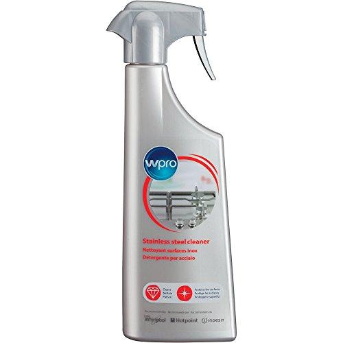Wpro ssc212 – Spray pour four et cuisinière Accessoires/polissage pour acier inoxydable/Pour Toutes Les surfaces inox/Idéal pour nettoyer et polir/500 ml