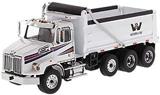 Diecast Masters Western Star 4700 SB Dump Truck White 1/50 Diecast Model 71034