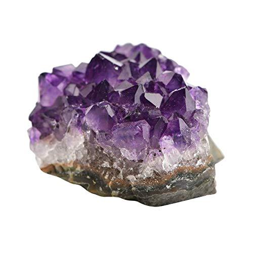 #N/a Grumos de geodas de cristal de amatista púrpura profundo único, perfecto para la decoración del hogar espiritual - 10-20g