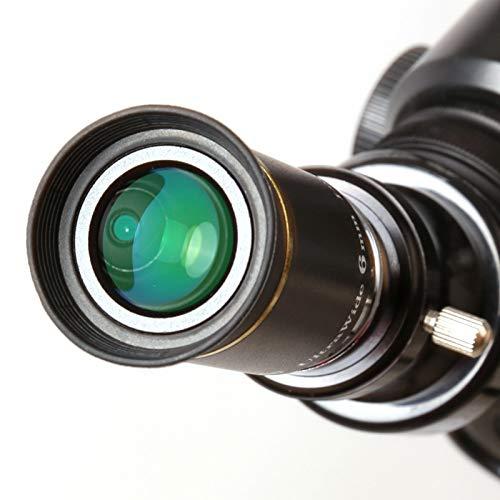 QFERW Telescopio 66 Grados Ultra Ancho 6 mm TelescopioOcular Partes uw6mm Gran Angular Ocular Telescopio astronómicoPartes, Negro