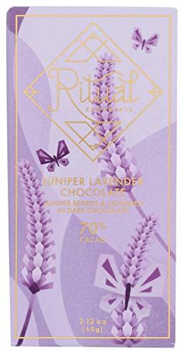Ritual Chocolate, Bar Chocolate Juniper Lavender, 2.12 Ounce