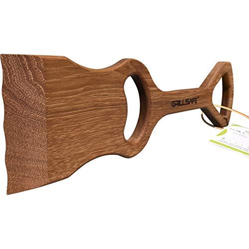 GrillSafe Grillmaster Grillschaber und Grillreiniger aus Holz, ohne Draht, formt benutzerdefinierte Rillen, reinigt oben und seitlich