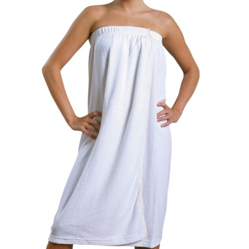 JMT Beauty French Terrycloth Spa wrap w/Adjustable Enclosure, Fits for Sizes S-L White