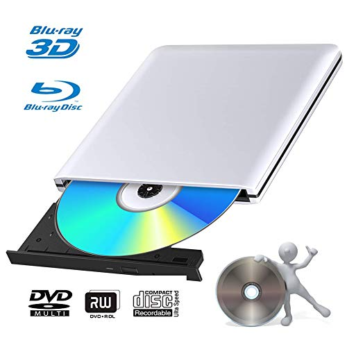 Blu Ray 4k Grabadora DVD Reproductor Externo Portatil USB 3.0 Grabadora de...