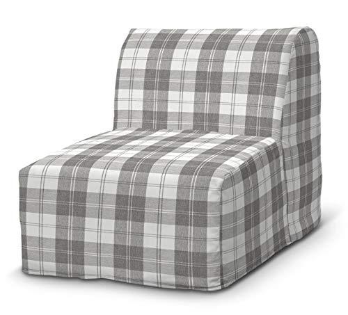 Dekoria Lycksele Sesselbezug Sofahusse passend für IKEA Modell Lycksele weiß-grau