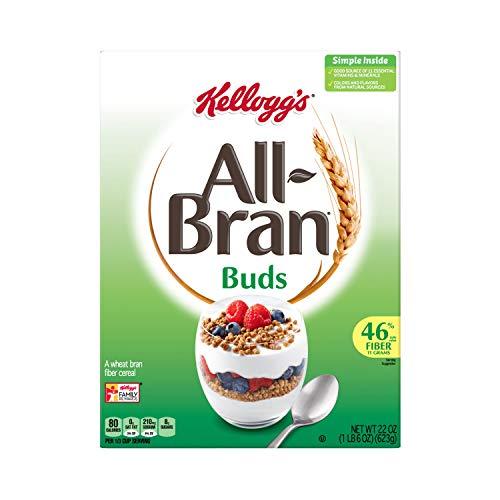 Kellogg's All-Bran Buds, Breakfast Cereal, Wheat Bran, Excellent Source of Fiber, 22oz Box