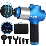 GOOGO Muscle Massage Gun, Handheld Deep Tissue Percussion Massager, Electric Body Massager Cordless Super Quiet for Muscle Soreness and Stiffness, 8 Speed Level, Included Carring Case