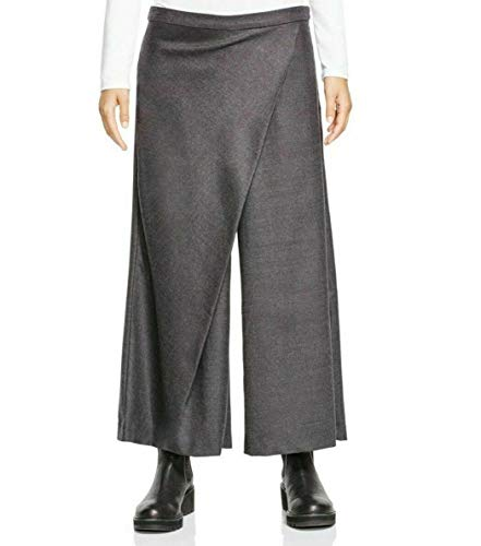 Eileen Fisher Stretch Flannel Twill Sarong Pants L MSRP$238.00 Charcoal