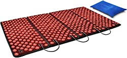 DGYAO 660nm LED Red Light and 880nm Near Infrared Light Therapy Devices Pads for back pain relief