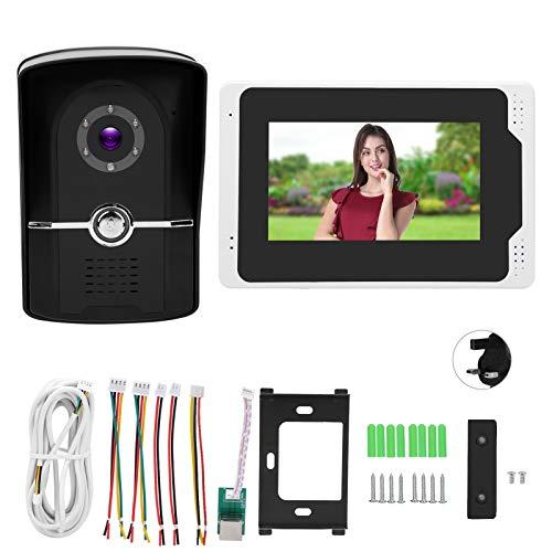 Visión nocturna Video Timbre de alta definición pantalla táctil Cámara 7 pulgadas bajo consumo de energía para TUYA para el hogar (regulación británica)