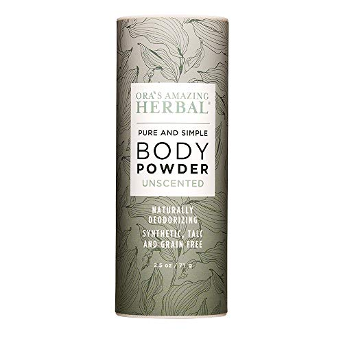 Natural Body and Shoe Powder and Dry Shampoo, No Talc, Corn Starch, Grain...