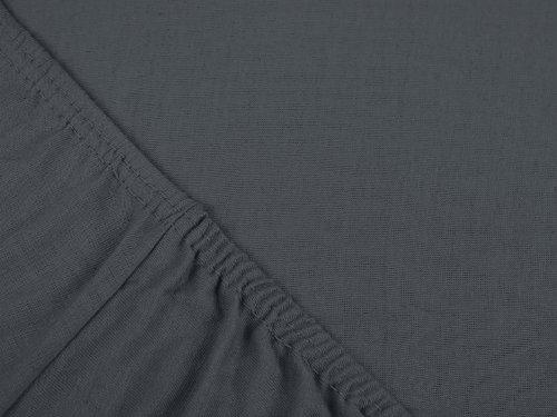klassisches Jersey Spannbetttuch – erhältlich in 22 modernen Farben und 6 verschiedenen Größen – 100% Baumwolle, 70 x 140 cm, anthrazit - 4