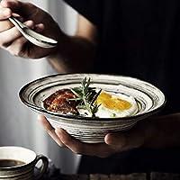 ボウル おしゃれ食器 高級 セラミック食器、皿、プレート、皿、ボウルスープボウル創造浅いスーププレート世帯プレート8インチ 耐熱 プレゼント ギフト 贈り物