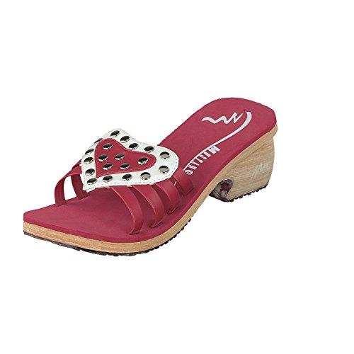 MUSTANG Damenschuhe Clogs Pantolette 79610 Weiss rot Sommerschuhe