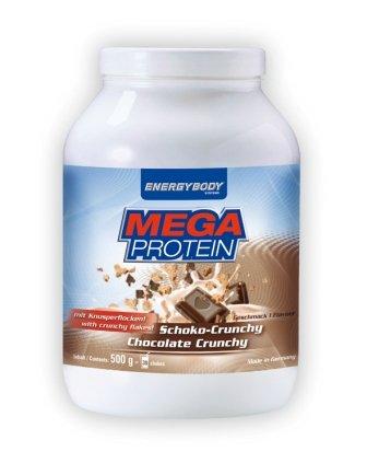 Energybody Mega Proteïne met stukjes vruchten 750 g doos chocolade-crunchy