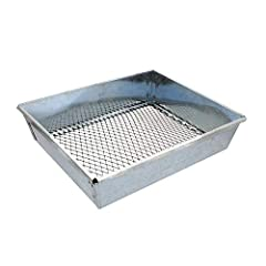 CREATE A NATURAL LOOKING SET WHEN LAND TRAPPING: Improve your fox and coyote trap sets easily with the Redneck Convent 9 by 7 Inch Metal Sifter Trapping Sifter Pan; This dirt sifter large sifting pan allows you to cover traps with an even layer of di...