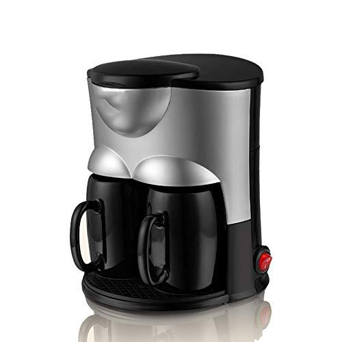 JINRU Máquina De Café Completamente Automática: Portátil, Goteo Pequeño, Filtro De Alta Densidad, Taza Doble, 600 ML (Negro, Rosa,Black