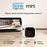 Blink Mini - Compact Indoor Plug-in Smart Security Camera, 1080 HD Video, Night Vision, Motion Detection, Two-Way Audio, Works with Alexa – 1 Camera (Used)