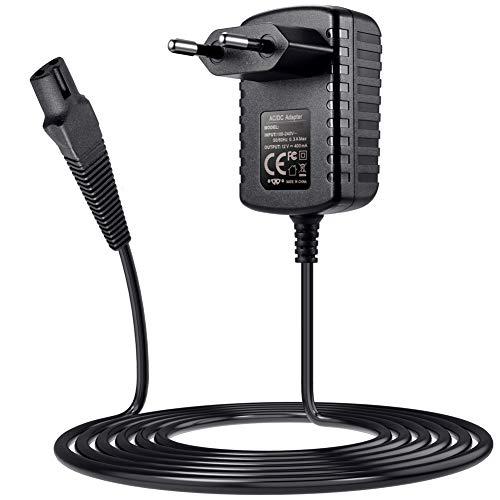 SoulBay 12V Ladegerät für Braun Rasierer Serie 9 7 3 5 1 3000s 3040s 340s 350cc-4 390cc 5190cc 790cc 760cc 7865cc 9290cc 9903s Rasiererkabel Ladekabel Netzteil, Funktioniert mit Aufgeführten Modellen