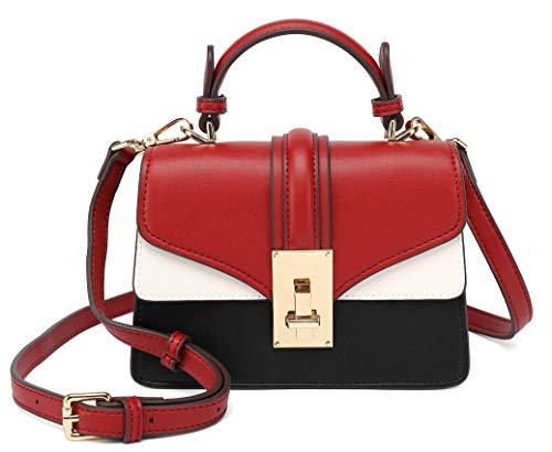 Scarleton Mini Top Handle Satchel Handbag for Women, Purses for Women, Vegan Leather, Crossbody Bag, Shoulder Purse, H2077