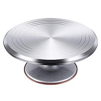 Kootek Aluminium Alloy Revolving Cake Stand 12 Inch Rotating Cake Turntable for Cake Cupcake Decorating Supplies