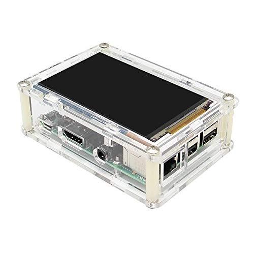 weichuang Geekwrom HD 3,5 Zoll TFT Display Shield 800x480 für RPi 3B 2B + Acryl passendes Gehäuse Kit Elektronikteile Elektronikzubehör