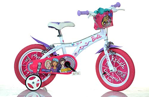 'Dino Kinderfahrrad 14Barbie, Farbe Pink, White, 614g-ba