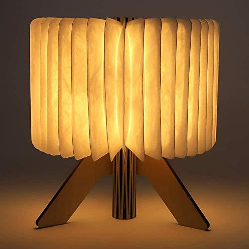 Buchlampe, Hölzerne faltende Buch-Lampe, R-Shaped LED Buch Licht, USB wiederaufladbar Tischleuchte, Nachttischlampe, Buch Licht schöne dekorative Lampen für Kinder Freundin Geschenk Eltern Home Decor