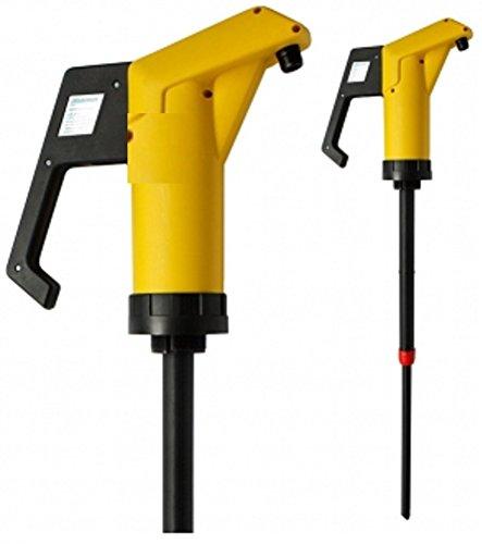 Chemie- Handpumpe JP-04 Gelb aus Polypropylen mit Dichtungen aus VITON und bis zu einer Tauchtiefe von 950mm geeignet