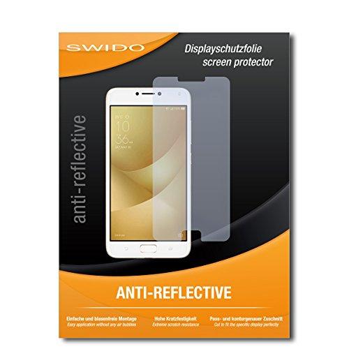 SWIDO Schutzfolie für Asus Zenfone 4 Max Pro ZC554KL [2 Stück] Anti-Reflex MATT Entspiegelnd, Hoher Festigkeitgrad, Schutz vor Kratzer/Folie, Bildschirmschutz, Bildschirmschutzfolie, Panzerglas-Folie