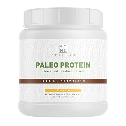 Paleo Protein Powder from Dr. Amy Myers - Double Chocolate - Clean Grass Fed, Pasture Raised Hormone Free - Non-GMO, Gluten & Dairy Free - Perfect for Keto and Paleo Diet - 21g Protein Per Serving