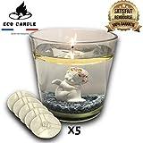 Eco Candle - Velas flotantes eternas de cero, reutilizables de por vida, posibilidad de decoración irregular, flotante invisible, submarsible, bonitas, decorativas y de larga duración – Lote de 12
