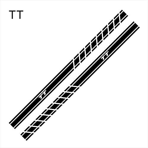 TangMengYun, adesivi per gonna, 2 pezzi, compatibili con Audi A4 B5 B6 B7 B8 A3 8P 8V 8L A5 A6 C6 C5 C7 A1 A7 A8 Q2 Q3 Q5 Q7 TT RS3 RS4 accessori