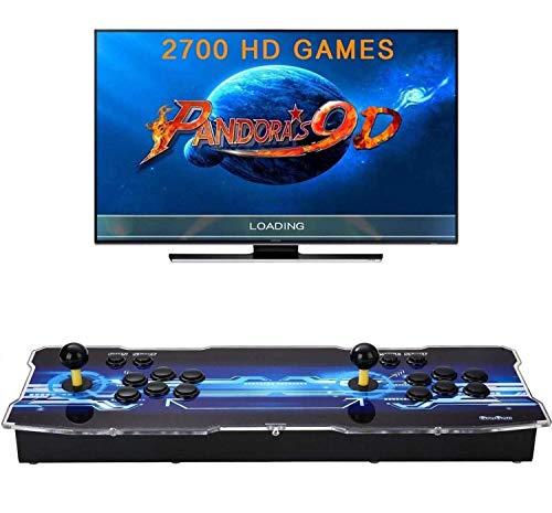 [2700 Games in 1] Pandora Box 9D Consola de Videojuegos 720P Full HD, Joystick Arcade Arcade Video Gamepad VGA/HDMI/USB