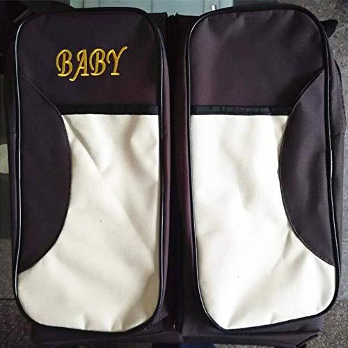 N-B Bolsa de pañales para bebé, Bolsa de Almacenamiento, Mochila portátil, Cama, Gran Capacidad, multifunción, Bolsa de Viaje para Momia, Bolsa de Almacenamiento Plegable para Cochecito de bebé