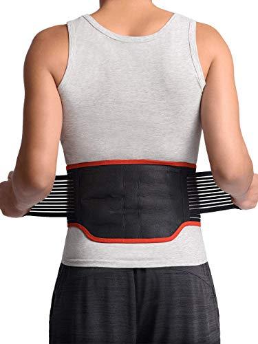 """Orthèse dorsale de soutien lombaire Maxar BMS-511 avec 31 aimants puissants, technologie infrarouge lointain, ceinture de thérapie magnétique, soulagement de la douleur et du stress, sciatique, scoliose, hernie discale, grand 36 """"-40"""""""
